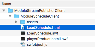 Schedule streams with ModuleStreamPublisher
