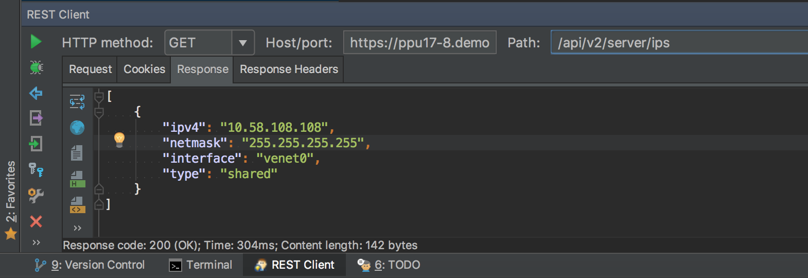 new remote REST API on Plesk - REST Client