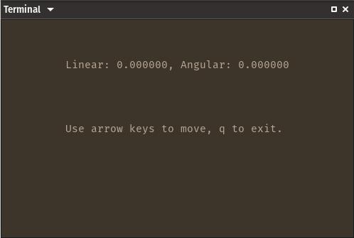key_teleop interface